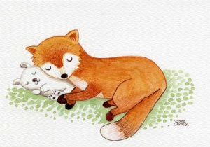 fox and rabbit