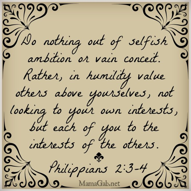 consider others above yourselves